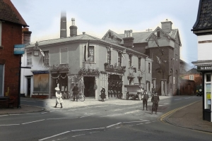 The past and the present meet with Carol Gingells 'ghost' photograph of Crown Corner, Diss